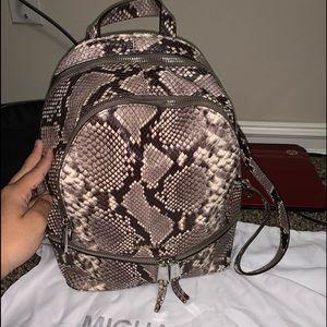 Michael Kors Rhea Snake Print Backpack